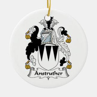 Escudo de la familia de Anstruther Adorno Redondo De Cerámica