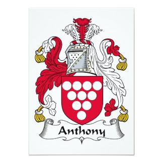 Escudo de la familia de Anthony Comunicados Personalizados