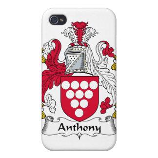 Escudo de la familia de Anthony iPhone 4 Cárcasa