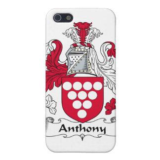 Escudo de la familia de Anthony iPhone 5 Carcasas