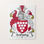 Escudo de la familia de Anthony Rompecabeza