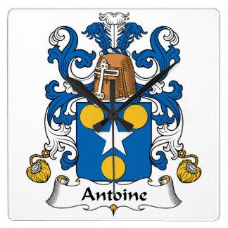 Escudo de la familia de Antoine Relojes De Pared