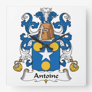 Escudo de la familia de Antoine Reloj Cuadrado