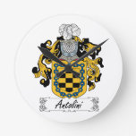 Escudo de la familia de Antolini Relojes De Pared