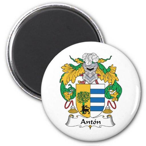 Escudo de la familia de Antón Imán Redondo 5 Cm