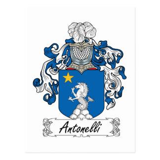 Escudo de la familia de Antonelli Tarjetas Postales