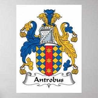 Escudo de la familia de Antrobus Póster
