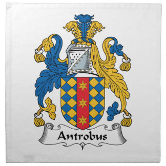 Escudo de la familia de Antrobus Servilletas Imprimidas