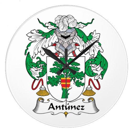 Escudo de la familia de Antunez Reloj Redondo Grande
