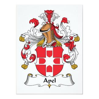 """Escudo de la familia de Apel Invitación 6.5"""" X 8.75"""""""