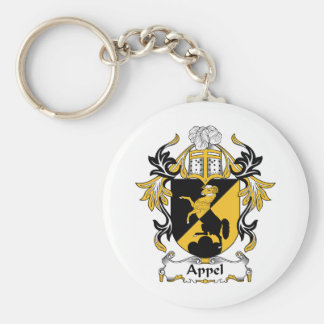 Escudo de la familia de Appel Llavero Redondo Tipo Pin