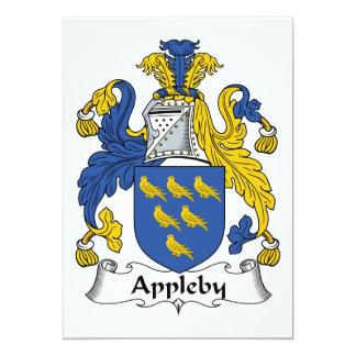 """Escudo de la familia de Appleby Invitación 5"""" X 7"""""""