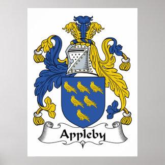 Escudo de la familia de Appleby Póster