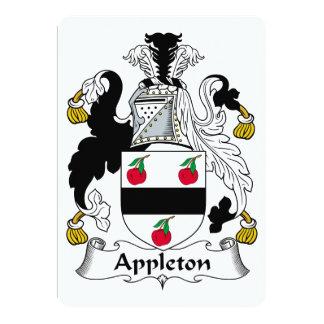 Escudo de la familia de Appleton Invitación