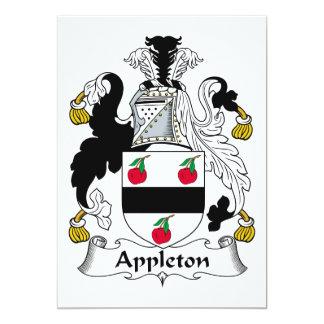 """Escudo de la familia de Appleton Invitación 5"""" X 7"""""""