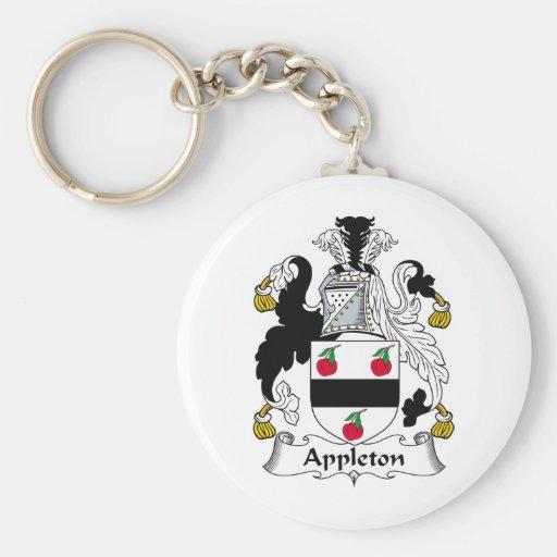 Escudo de la familia de Appleton Llavero Redondo Tipo Pin