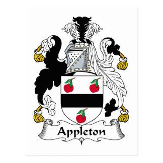 Escudo de la familia de Appleton Postal