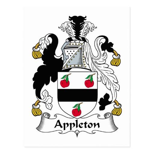 Escudo de la familia de Appleton Tarjeta Postal
