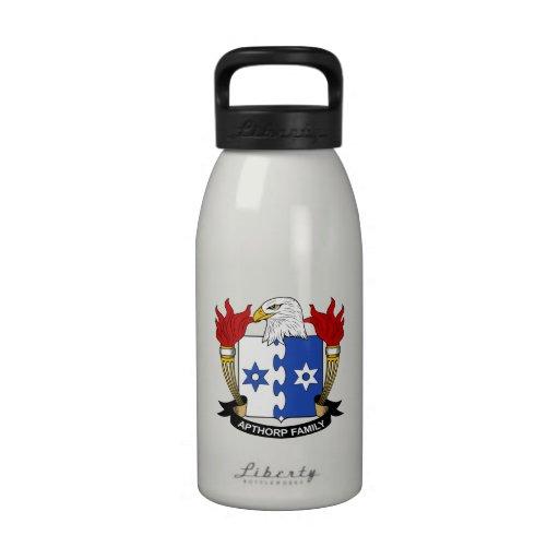 Escudo de la familia de Apthorp Botella De Agua Reutilizable
