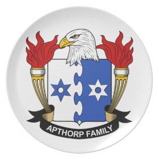 Escudo de la familia de Apthorp Plato De Comida
