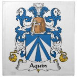 Escudo de la familia de Aquin Servilletas De Papel