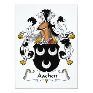 """Escudo de la familia de Aquisgrán Invitación 6.5"""" X 8.75"""""""