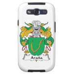 Escudo de la familia de Arana Galaxy S3 Carcasas