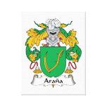 Escudo de la familia de Arana Lienzo Envuelto Para Galerias