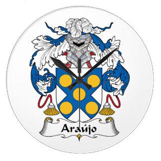 Escudo de la familia de Araujo Reloj Redondo Grande