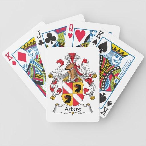 Escudo de la familia de Arberg Baraja Cartas De Poker