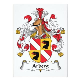 """Escudo de la familia de Arberg Invitación 6.5"""" X 8.75"""""""