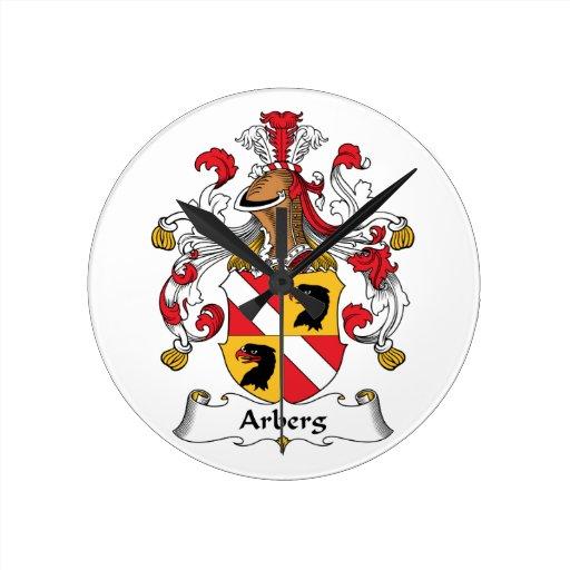 Escudo de la familia de Arberg Reloj Redondo Mediano