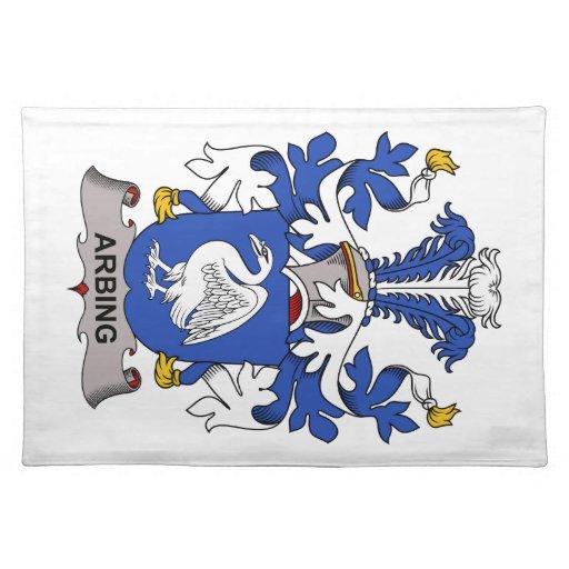 Escudo de la familia de Arbing Manteles Individuales