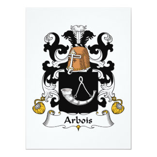 """Escudo de la familia de Arbois Invitación 6.5"""" X 8.75"""""""