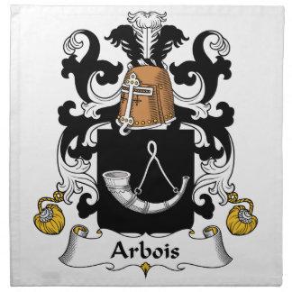 Escudo de la familia de Arbois Servilletas