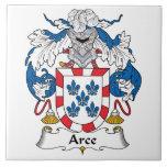 Escudo de la familia de Arce Azulejo Cerámica