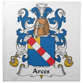 Escudo de la familia de Arces Servilleta De Papel