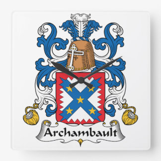 Escudo de la familia de Archambault Relojes