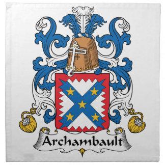 Escudo de la familia de Archambault Servilletas De Papel