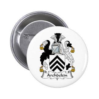 Escudo de la familia de Archdekin Pin Redondo 5 Cm