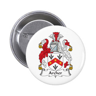 Escudo de la familia de Archer Pin Redondo 5 Cm