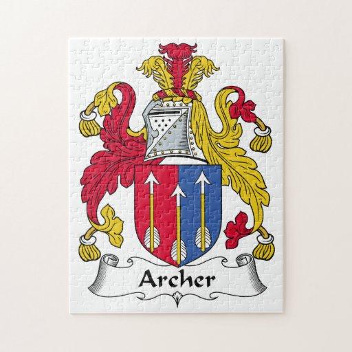 Escudo de la familia de Archer Puzzles Con Fotos
