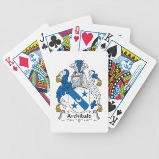 Escudo de la familia de Archibald Baraja Cartas De Poker