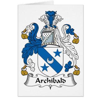 Escudo de la familia de Archibald Felicitacion