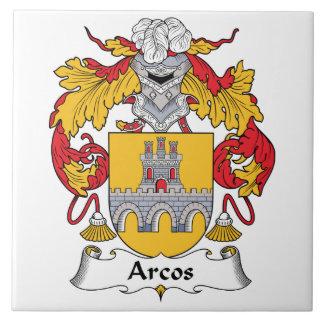 Escudo de la familia de Arcos Azulejo Cuadrado Grande