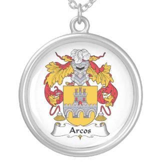 Escudo de la familia de Arcos Colgante Redondo