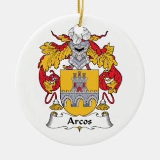 Escudo de la familia de Arcos Adorno Redondo De Cerámica