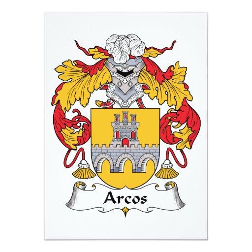 """Escudo de la familia de Arcos Invitación 5"""" X 7"""""""