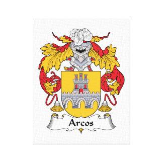 Escudo de la familia de Arcos Impresión En Lienzo Estirada