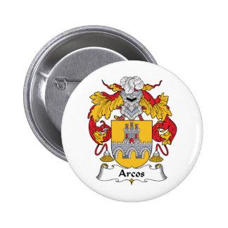 Escudo de la familia de Arcos Pin Redondo 5 Cm